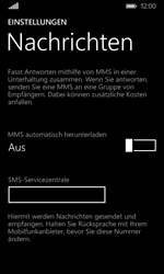 Microsoft Lumia 435 - SMS - Manuelle Konfiguration - Schritt 7