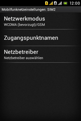 Sony Xperia Tipo Dual - Netzwerk - Netzwerkeinstellungen ändern - Schritt 8