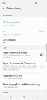 Samsung Galaxy S10 - Internet und Datenroaming - Prüfen, ob Datenkonnektivität aktiviert ist - Schritt 7