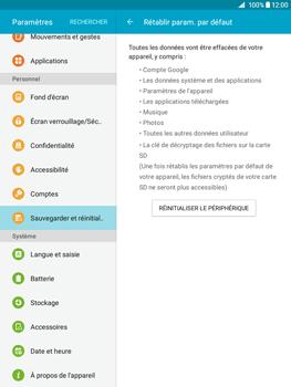 Samsung Galaxy Tab A - Aller plus loin - Restaurer les paramètres d'usines - Étape 6