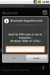 Samsung Galaxy Spica (GT-i5700) - Bluetooth - Headset, carkit verbinding - Stap 8