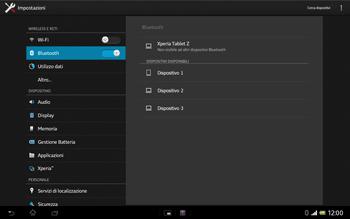 Sony Xperia Tablet Z LTE - Bluetooth - Collegamento dei dispositivi - Fase 6