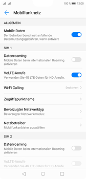 Huawei P20 - Netzwerk - Manuelle Netzwerkwahl - Schritt 5