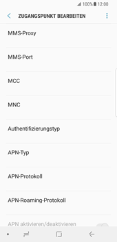 Samsung Galaxy S8 - Android Oreo - MMS - Manuelle Konfiguration - Schritt 10