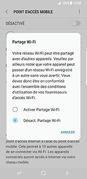 Samsung Galaxy S8 - Internet et connexion - Partager votre connexion en Wi-Fi - Étape 7