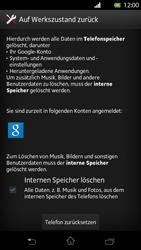 Sony Xperia T - Gerät - Zurücksetzen auf die Werkseinstellungen - Schritt 6