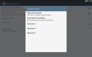 Samsung Galaxy Tab 3 10-1 LTE - Netzwerk - Manuelle Netzwerkwahl - Schritt 8