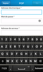 BlackBerry Z10 - E-mails - Ajouter ou modifier un compte e-mail - Étape 9