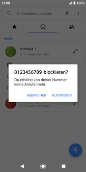 Sony Xperia XZ2 - Android Pie - Anrufe - Anrufe blockieren - Schritt 6