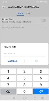 Huawei P20 Pro - Android Pie - Operazioni iniziali - Come abilitare il pin della SIM - Fase 9
