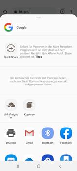 Samsung Galaxy S20 5G - Internet und Datenroaming - Verwenden des Internets - Schritt 23