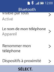 Alcatel 3088X - Internet et connexion - Connexion avec un équipement multimédia via Bluetooth - Étape 7