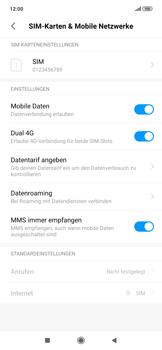 Xiaomi RedMi Note 7 - Internet und Datenroaming - Deaktivieren von Datenroaming - Schritt 4