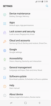 Samsung Galaxy S8 Plus - Software - Installing software updates - Step 5