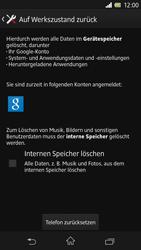 Sony Xperia Z - Gerät - Zurücksetzen auf die Werkseinstellungen - Schritt 6