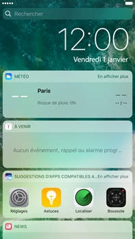 Apple Apple iPhone 6 Plus iOS 10 - iOS features - Écran de verrouillage - Étape 3