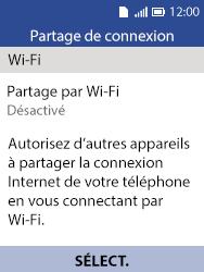 Alcatel 3088X - Internet et connexion - Partager votre connexion en Wi-Fi - Étape 11