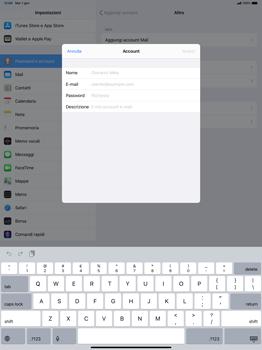 Apple iPad Pro 12.9 (2018) - ipados 13 - E-mail - configurazione manuale - Fase 7