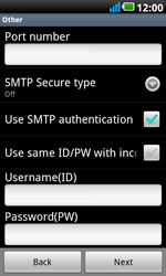 LG P990 Optimus 2X Speed - Email - Manual configuration POP3 with SMTP verification - Step 10