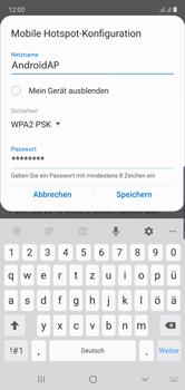 Samsung Galaxy Note 10 - WiFi - So aktivieren Sie einen WLAN-Hotspot - Schritt 9