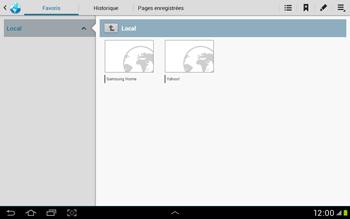Samsung Galaxy Tab 2 10.1 - Internet et roaming de données - Navigation sur Internet - Étape 7