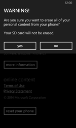 Nokia Lumia 630 - Device - Factory reset - Step 8