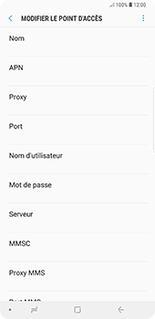 Samsung Galaxy Note9 - MMS - Configuration manuelle - Étape 8