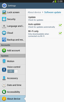 Samsung Galaxy Tab 3 8-0 LTE - Software - Installing software updates - Step 7