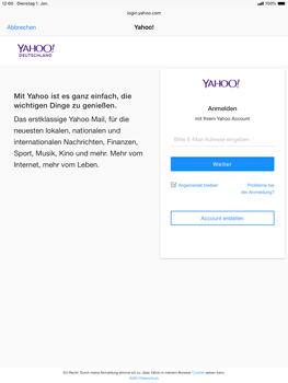 Apple iPad Air (2019) - iPadOS 13 - E-Mail - 032b. Email wizard - Yahoo - Schritt 6