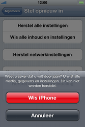 Apple iPhone 4S met iOS 5 (Model A1387) - Probleem oplossen - Toestel resetten - Stap 7
