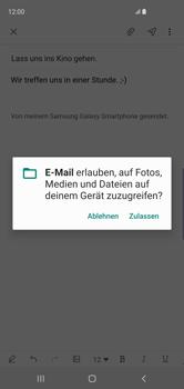 Samsung Galaxy S10 - E-Mail - E-Mail versenden - Schritt 14