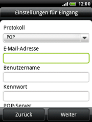 HTC Wildfire - E-Mail - Konto einrichten - 0 / 0