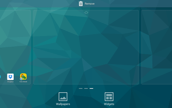 Samsung T805 Galaxy Tab S - Getting started - Installing widgets and applications on your start screen - Step 4