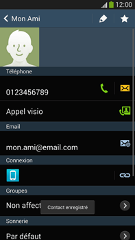 Samsung Galaxy Note 3 - Contact, Appels, SMS/MMS - Ajouter un contact - Étape 13