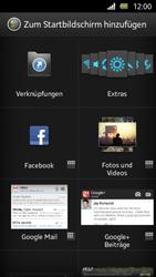 Sony Xperia U - Startanleitung - Installieren von Widgets und Apps auf der Startseite - Schritt 4