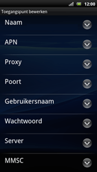 Sony Ericsson Xperia Arc S - MMS - handmatig instellen - Stap 10