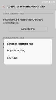 Samsung Galaxy S6 edge+ - Android Nougat - Contacten en data - Contacten kopiëren van toestel naar SIM - Stap 8