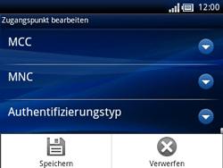 Sony Ericsson Xperia X10 Mini Pro - Internet - Manuelle Konfiguration - Schritt 14