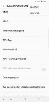 Samsung Galaxy S8 Plus - Android Oreo - Internet und Datenroaming - Manuelle Konfiguration - Schritt 16