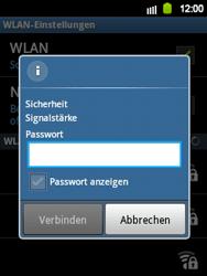 Samsung Galaxy Y - WiFi - WiFi-Konfiguration - Schritt 8