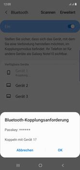 Samsung Galaxy Note 10 - Bluetooth - Verbinden von Geräten - Schritt 8