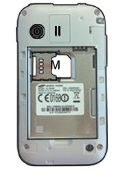 Samsung S5360 Galaxy Y - SIM-Karte - Einlegen - Schritt 4