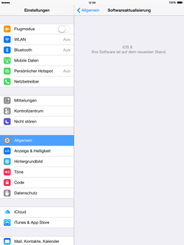 Apple iPad Air - iOS 8 - Software - Installieren von Software-Updates - Schritt 7
