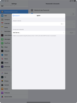 Apple iPad Pro 12.9 (2nd gen) - iPadOS 13 - E-mail - manual configuration - Step 20