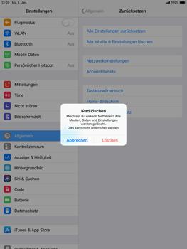 Apple iPad mini retina - iOS 12 - Fehlerbehebung - Handy zurücksetzen - Schritt 9