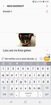 Samsung Galaxy A8 Plus (2018) - MMS - Erstellen und senden - 23 / 25