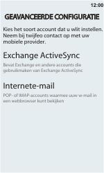 HTC C110e Radar - E-mail - handmatig instellen - Stap 8
