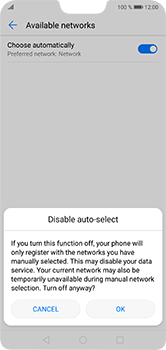 Huawei P20 Lite - Network - Manual network selection - Step 7
