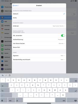 Apple iPad Pro 12.9 (2018) - ipados 13 - E-Mail - Manuelle Konfiguration - Schritt 23