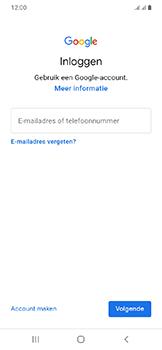 Samsung Galaxy A20e - apps - account instellen - stap 5